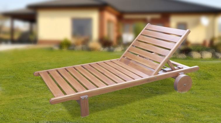 Relax - Polohovacie ležadlo (prírodný - bezfarebne impregnované)