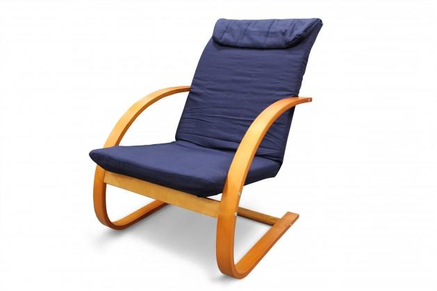 Relaxačné Fiori - Kreslo relaxačné (čerešňa / modré plátno)