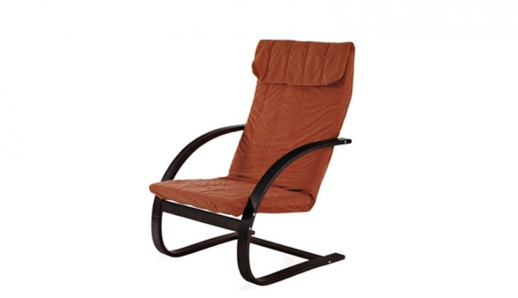 Relaxačné Fiori - Kreslo relaxačné (orech / mikroplyš teracota)
