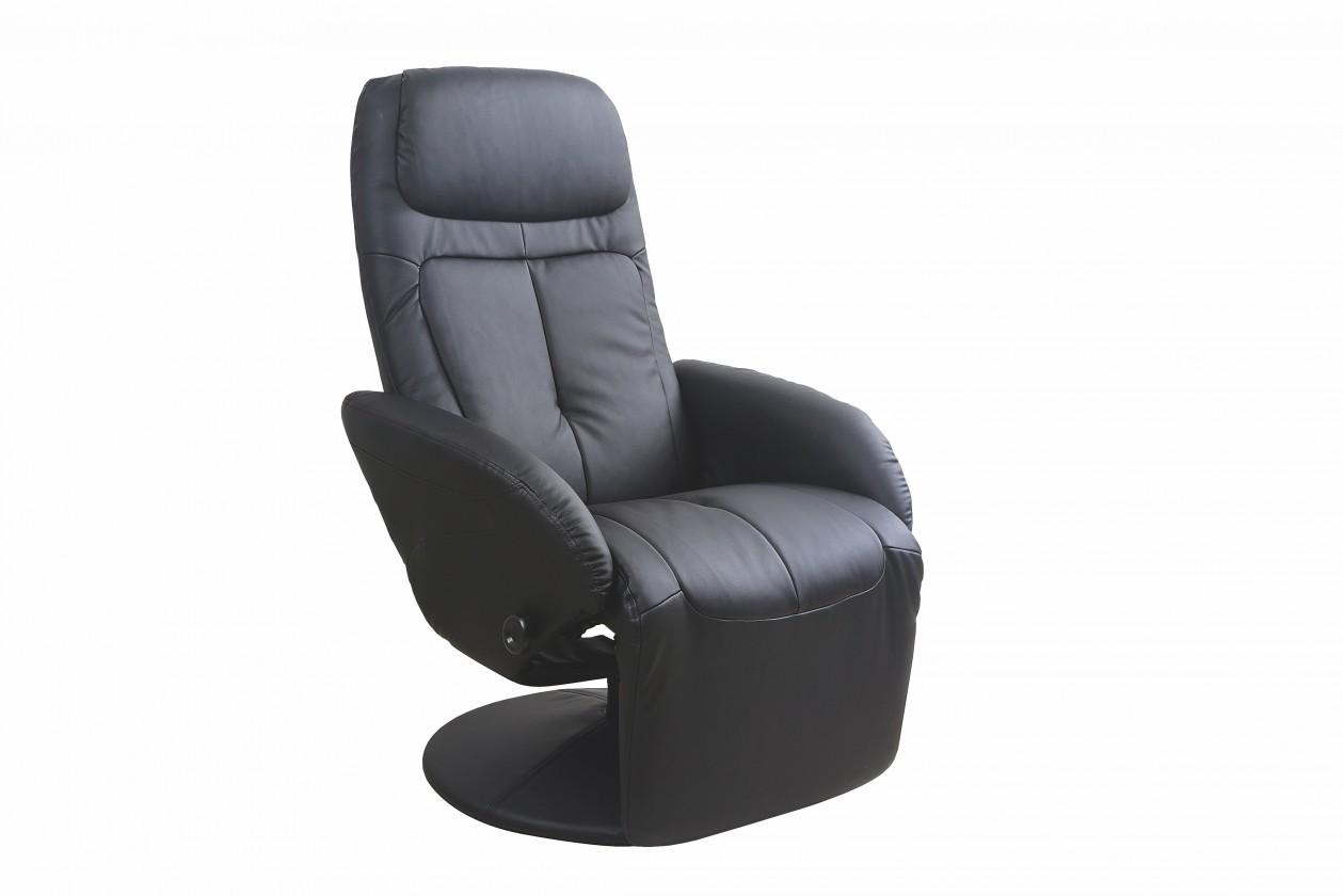 Relaxačné Kožené kreslo Optima čierna