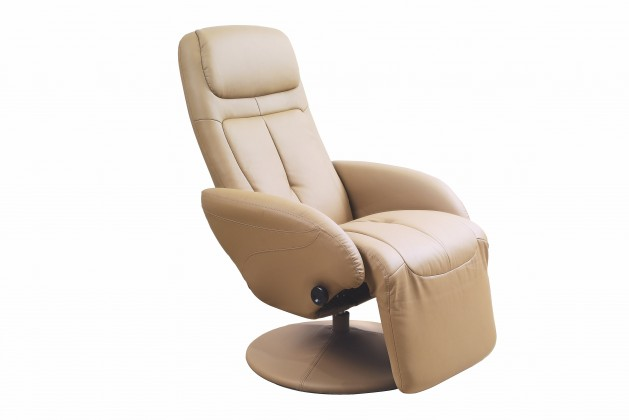 Relaxačné Optima - Kreslo, polohovacie (eko koža béžová)