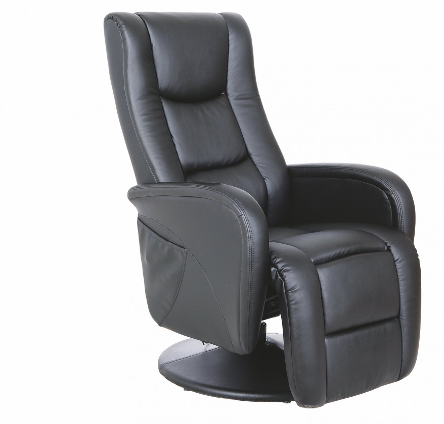 Relaxačné Pulsar - Kreslo, polohovacie (eko koža čierna)