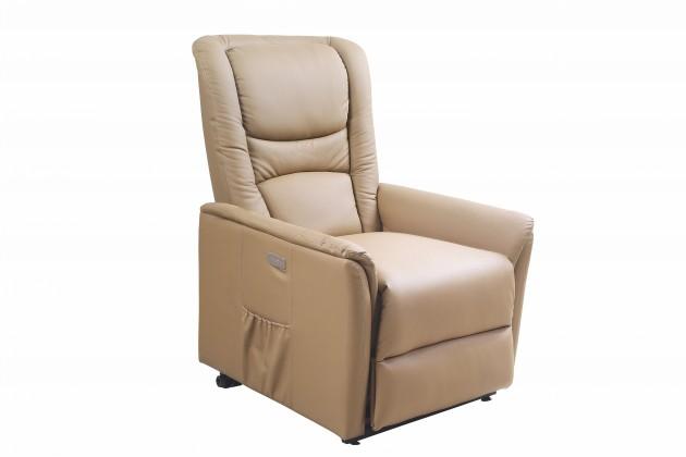 Relaxačné Senator - Kreslo, polohovacie (eko koža béžová)