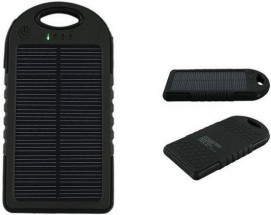 REMAX PowerBank 5 000 mAh - solárna, čierna farba