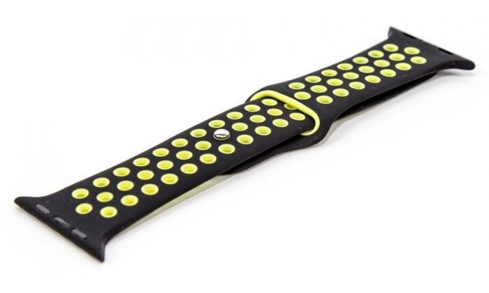 Remienky na Apple Watch Remienok pre Apple Watch 42/44 mm a Immax SW10, čierna/zelená
