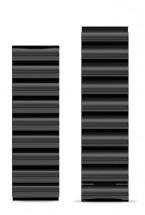 Remienok Aligator, š. 22mm, kovový, čierna