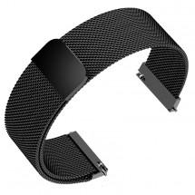 Remienok Deveroux, š. 18mm, WD16, oceľ. miláno, magnet, čierna