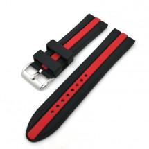 Remienok Deveroux, š. 20mm, JD48, sili, spona, čierna,červený pr