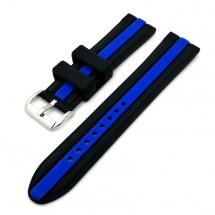 Remienok Deveroux, š. 20mm, JD48, sili, spona, čierna, modrý pr