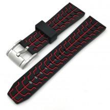Remienok Deveroux, š. 20mm, JD51, sili, spona, červená