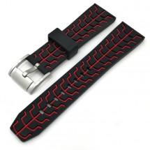Remienok Deveroux, š. 22mm, JD51, sili, spona, červená
