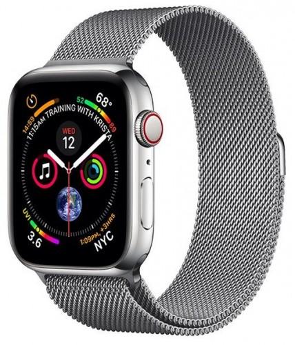 Remienok na Apple Watch 38/40 mm, magnetický oceľový, sivý