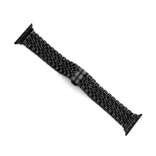Remienok na Apple Watch 42/44 mm, Excellence oceľový, čierny