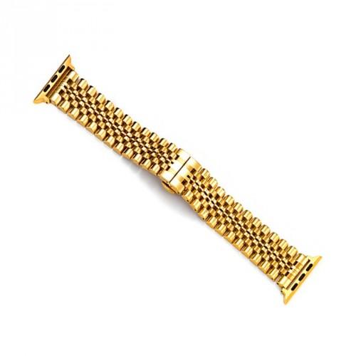 Remienok na Apple Watch 42/44 mm, Excellence oceľový, zlatý