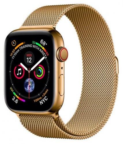 Remienok na Apple Watch 42/44 mm, magnetický oceľový, zlatý
