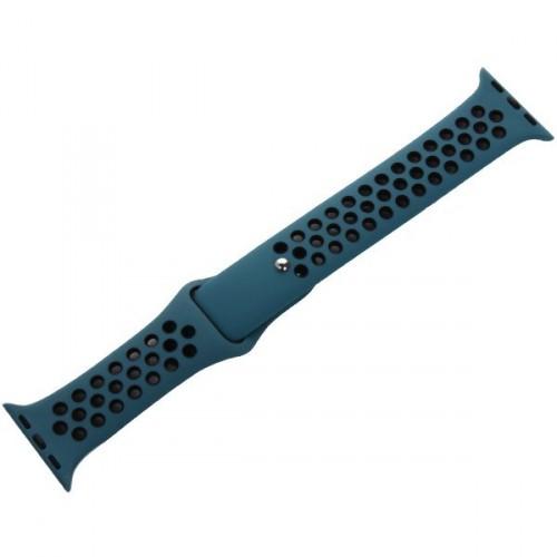 Remienok na Apple Watch 42/44 mm, športový, čierny/modrý