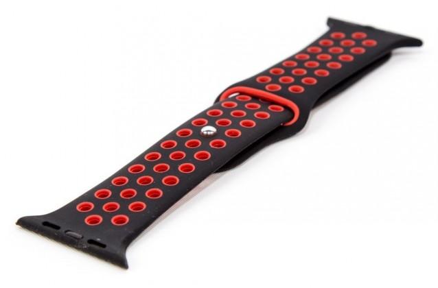Remienok pre Apple Watch 42/44 mm a Immax SW10, čierna/červená