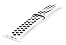 Remienok pre hodinky, biela/čierna, vhodné pre Apple Watch