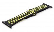 Remienok pre hodinky, čierna/zelená, vhodné pre Apple Watch