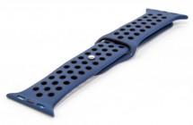 Remienok pre hodinky, modrá/čierna, vhodné pre Apple Watch