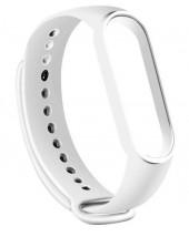 Remienok pre Xiaomi Mi Band 5, silikón, biela