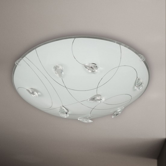 Rennes - Nástenné svietidlo, LED (chróm)