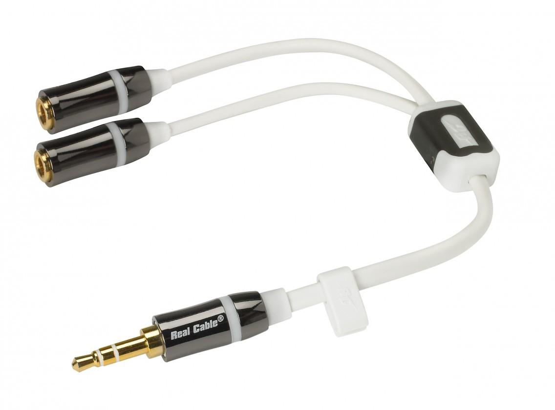 Repro káble Real cable iPLUG-J35M2F 0,2m ROZBALENÉ