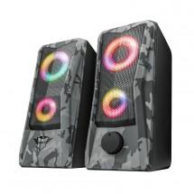 Reproduktory Trust GXT 606 JAVV RGB, 2.0, 12W, maskáčové POUŽITÉ,