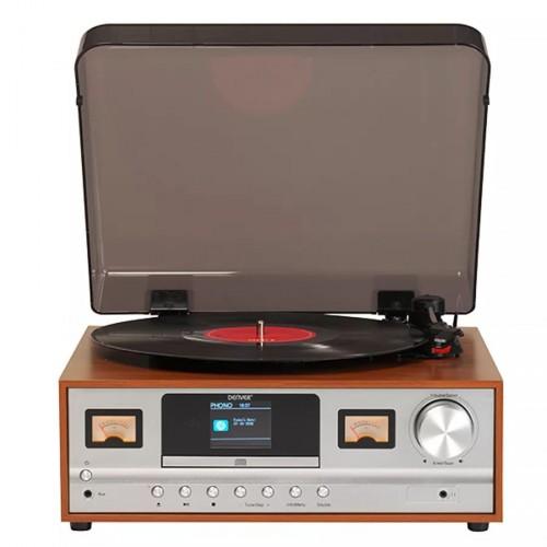Retro gramofón Denver MRD-52, hnedý