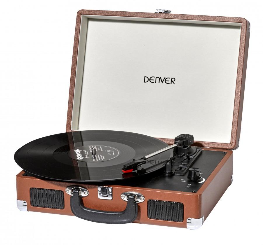 Retro gramofóny Gramofón Denver VPL-120, hnedý