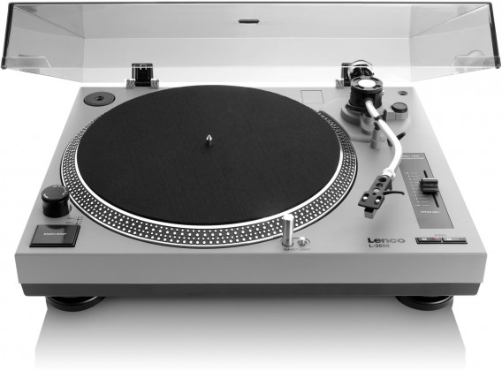 Retro gramofóny Lenco L-3808 šedý