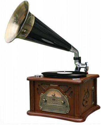 Retro rádio Retro gramofón Roadstar HIF-1850TUMPK