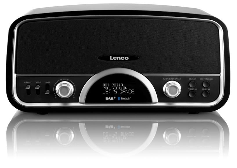 Retrorádio Lenco DR-05 BT, čierne