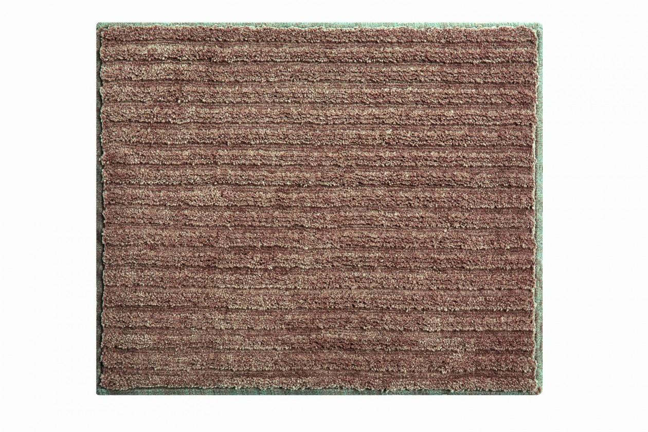 Riffle - Kúpeľňová predložka malá 50x60 cm (čoko-smotanová)