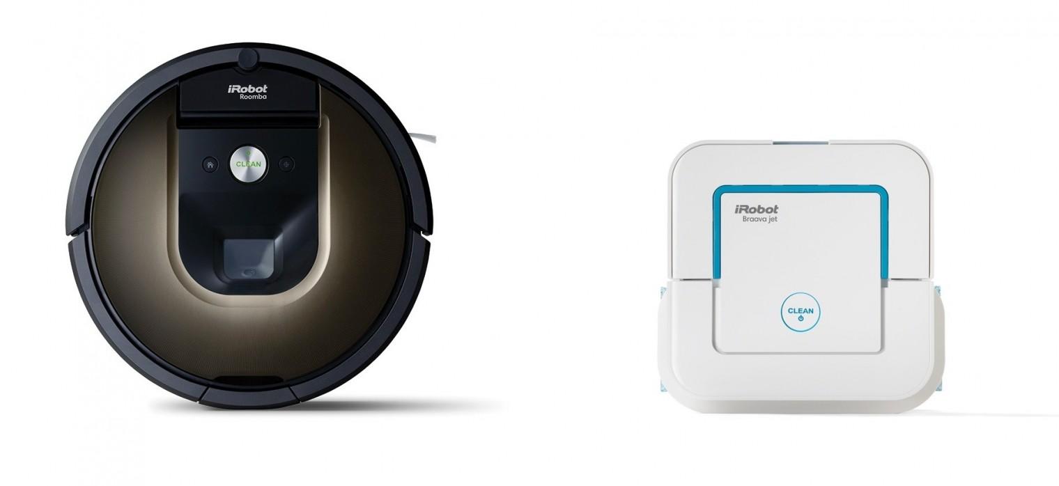 Robotický vysávač Robotický vysávač iRobot Roomba 980 + Braava jet 240