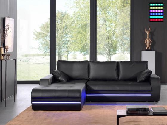 Rohová Flash-roh ľavý, s LED osvetlením (pu black)