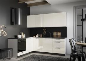 Rohová kuchyňa Betty ľavý roh 230x180 cm (jazmín, lesk)