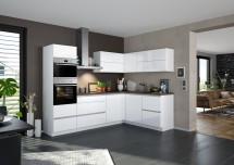 Rohová kuchyňa Eugenie ľavý roh 275x185 (biela,vysoký lesk, lak)