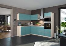 Rohová kuchyňa Eugenie pravý roh 275x185cm (petrol, matná)