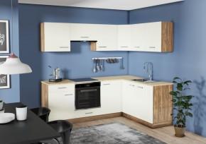 Rohová kuchyňa Evelin pravý roh 220x160 cm (magnólia, orech)