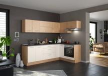 Rohová kuchyňa Heidi ľavý roh 270x150 cm (magnólia, dub)