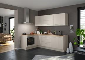 Rohová kuchyňa Inge pravý roh 250x150 cm (sivá, dub)