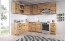 Rohová kuchyňa Jamajka ľavý roh 270x190 cm (dub wotan)
