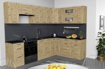 Rohová kuchyňa Jorica pravý roh 270x190 cm (dub artisan)