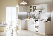 Rohová kuchyňa Julia ľavý roh 270x110 cm vanilka/magnolie/piesok