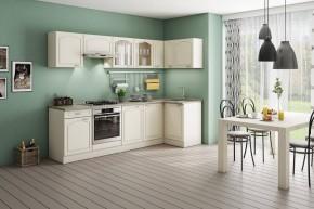 Rohová kuchyňa Julia pravý roh 270x110 cm vanilka/magnólia/piesok
