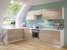 Rohová kuchyňa Line ľavý roh 320x180 cm (dub sonoma/biela)