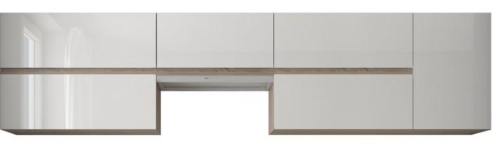 Rohová kuchyňa Line ľavý roh 320x180cm(biela/dub sonoma)II.akosť