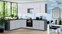 Rohová kuchyňa Mindy ľavý roh 270x180 cm (sivá matná)