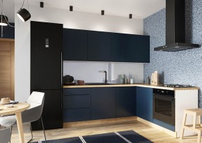 Rohová kuchyňa Minea pravý roh 230x180 (modrá mat)